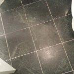 Fogging Dull Serpentine Black Marble Bathroom
