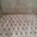 Marble Shower Floor Perimeter Before Re Caulking