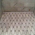 Marble Shower Floor White Caulk On Perimeter