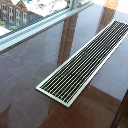 Reddish/Brown Marble Window Sill Radiator Crack Repaired