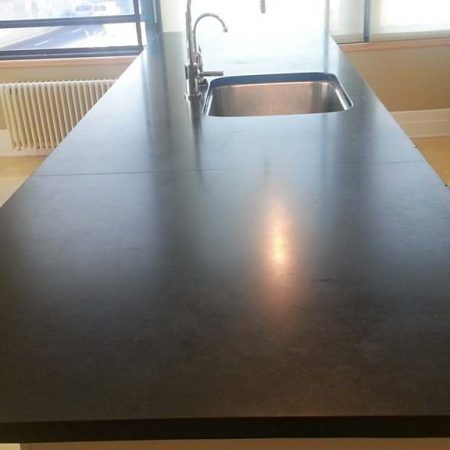 Black Absolute before Seam Repair and Refinishing