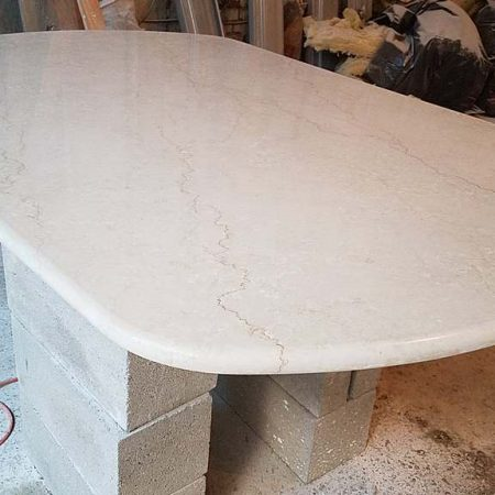 Elliptical Table on Construction Site Fabrication