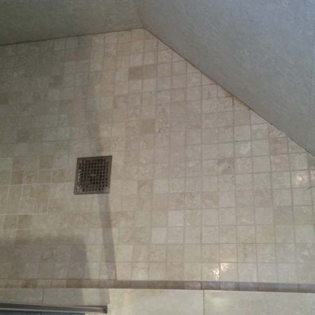 Stained Grout on Perimeter Shower Floor