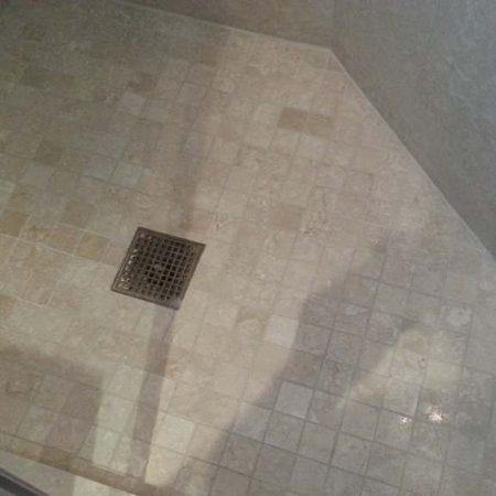 Perimeter Shower Floor Re Grouted