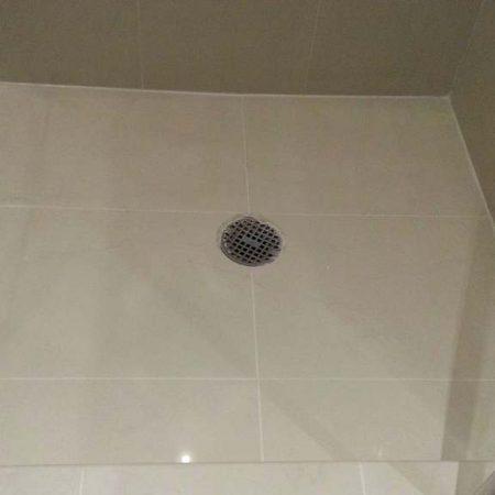 Shower Floor Walls after Regrouting