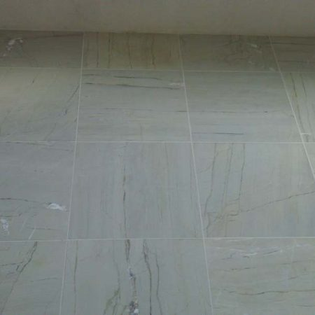 Bathroom Floor after Honing & Grouting
