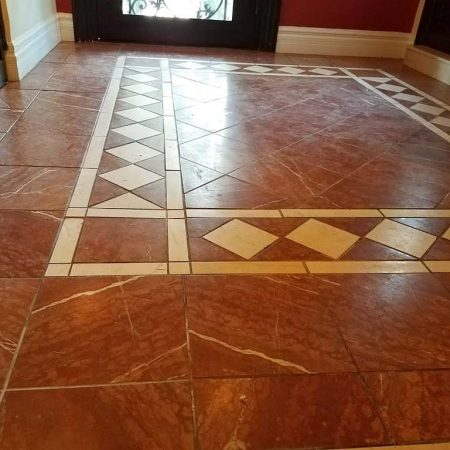Reddish Foyer Floor before Restoration