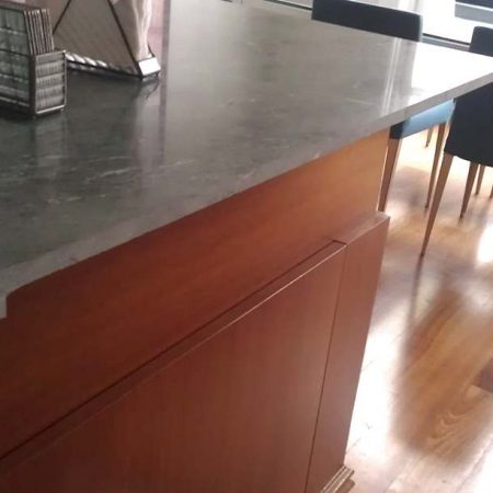 Serpentine Green Marble Double Edge Refitting