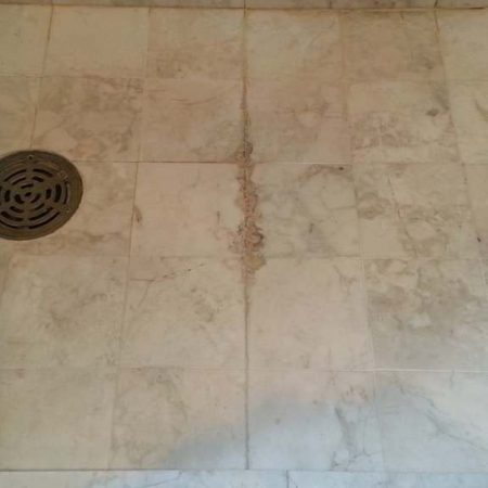 Shower Floor Build Up Efflorescence