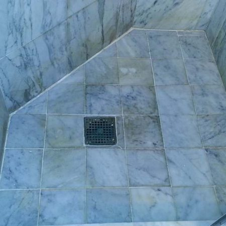 Stained Shower Tiles & Grout