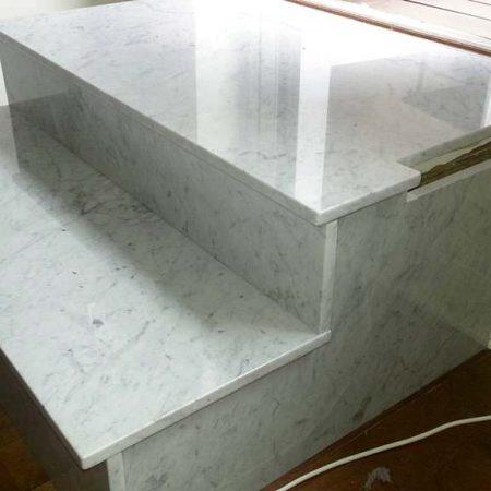 Carrara Marble Landing Step Wrong Cut
