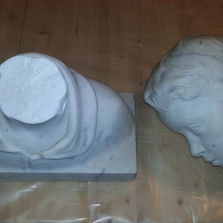 Statuary Marble Broken Head Bust Restoration
