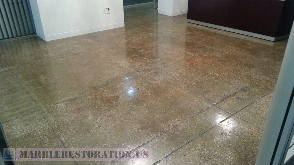 Terrazzo Floor Steps Restoration Service Free Estimate