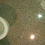 Terrazzo Restroom Floor Janitorial Cleaning Polishing