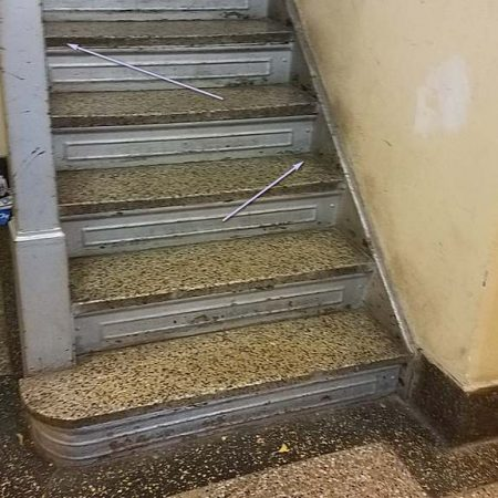 Dirty Terrazzo Steps