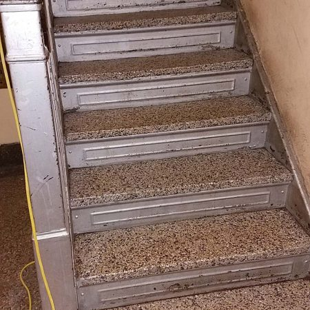 Terrazzo Steps after Cleaning & Scrubbing