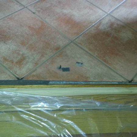 Missed Grout Line Before Replacement