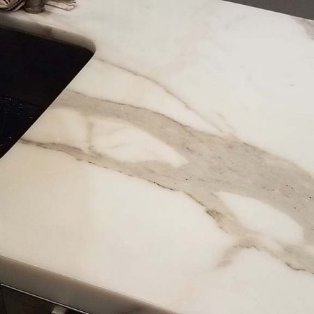 Stains On Top of Marble Surface Sanded Out