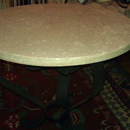Travertine Round Coffee Table Fabricated