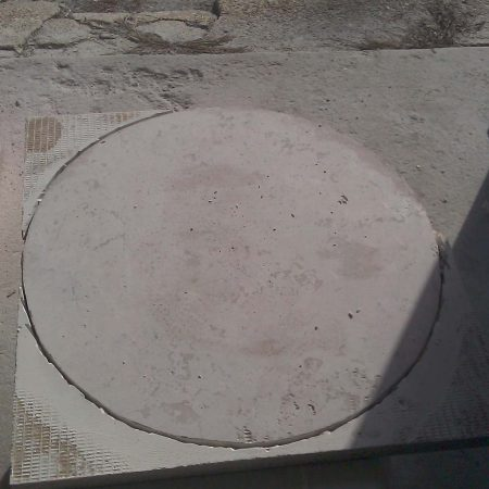 Travertine Table Outdoor Fabrication