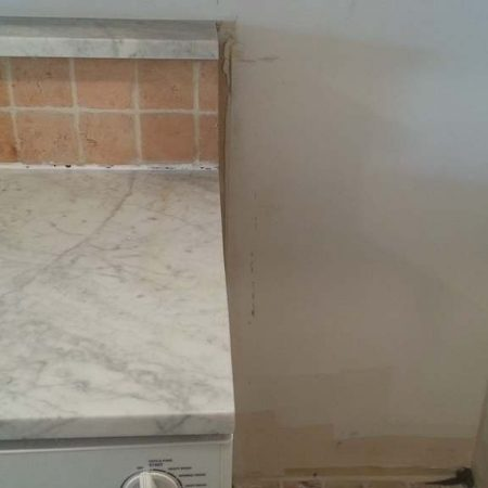 Trimmed Counter Side For Refrigerator Niche