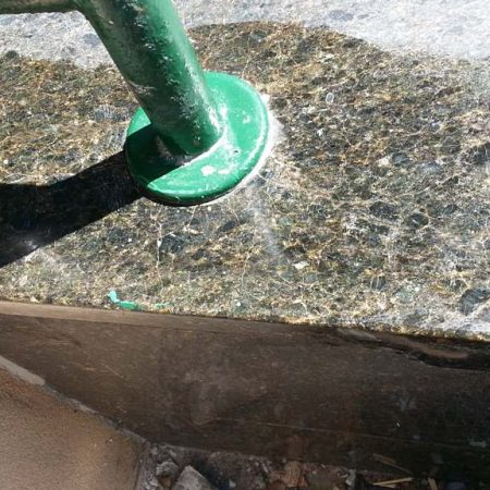 Fixed Ubatuba Granite Porch Edge
