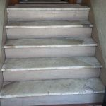 White Carrara Cracked Steps Replacement