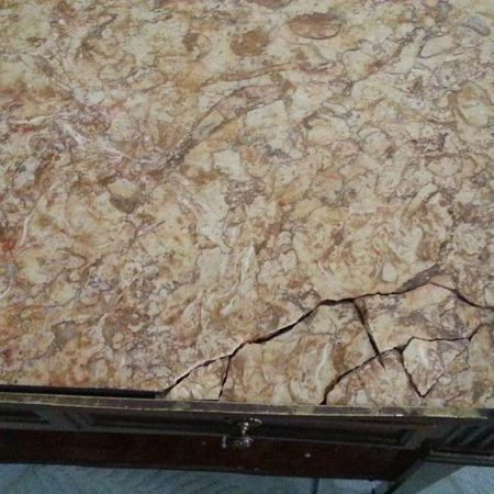 Marble-Bronze Tray-Table Side Shattered