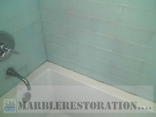 Tub and Glass Tiles Re Caulking