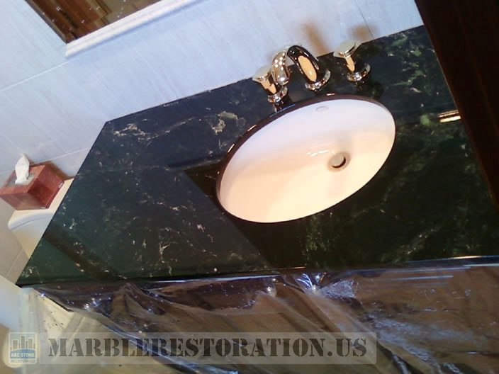 Serpentine Marble Bathroom Vanity