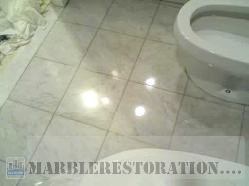 Bathroom White Marble Floor