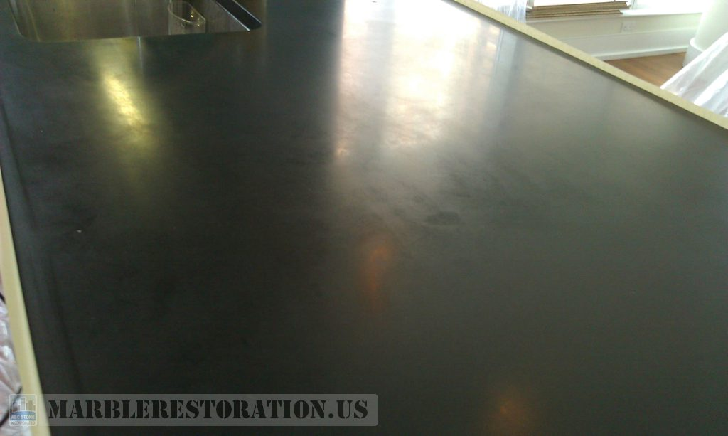 Dull Black Absolute Counter Top Before