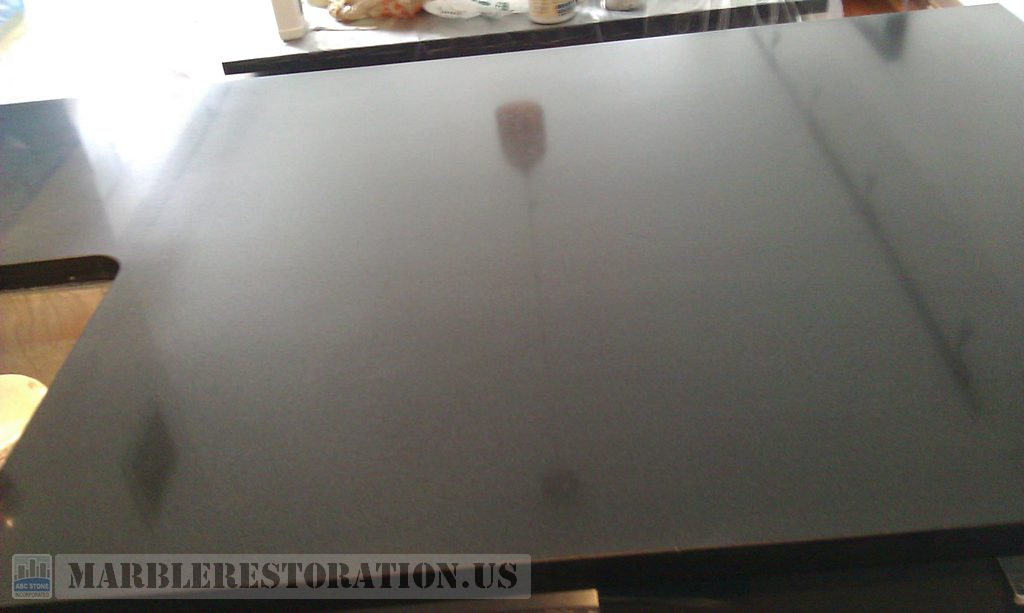 Black Absolute Countertop. After Polish