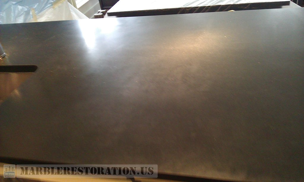 Splotchy Black Absolute Countertop Restoration