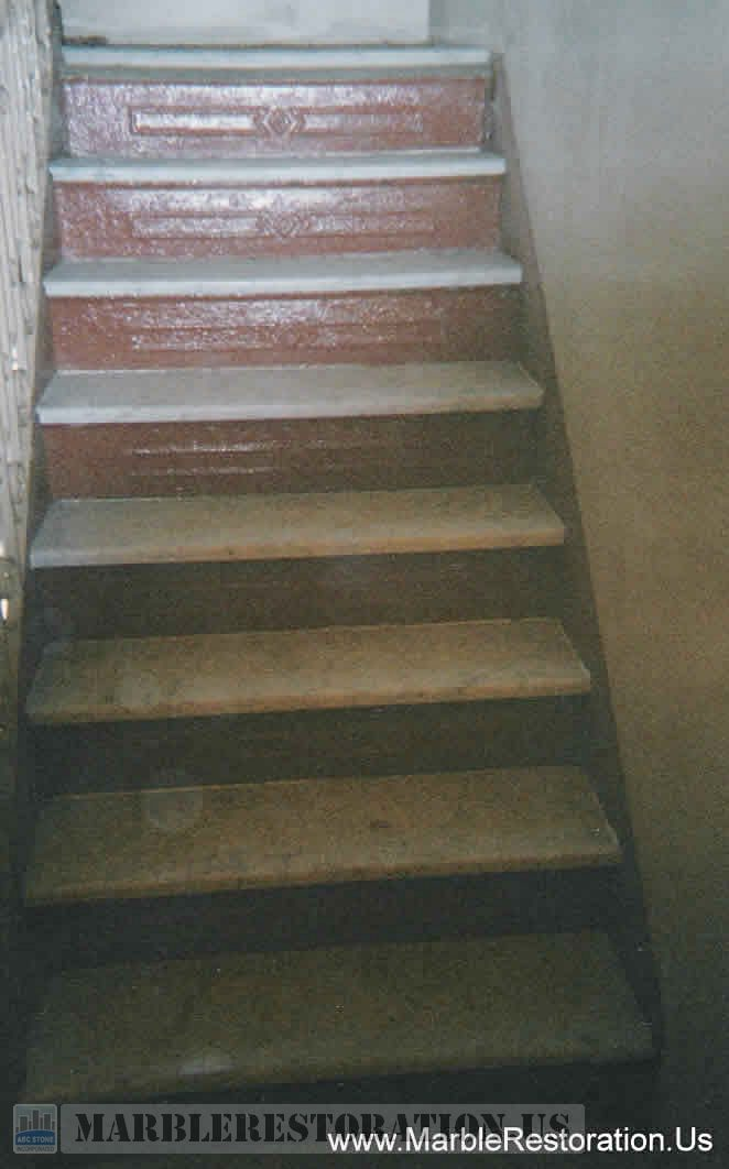 New White Carrara Steps Installed