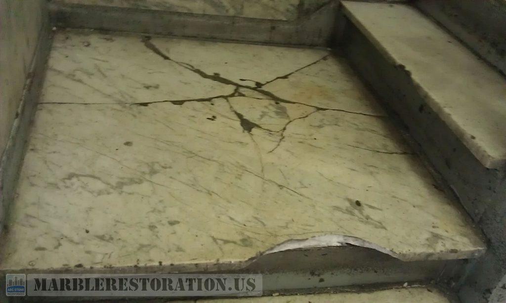 Landing Marble Step Restoration