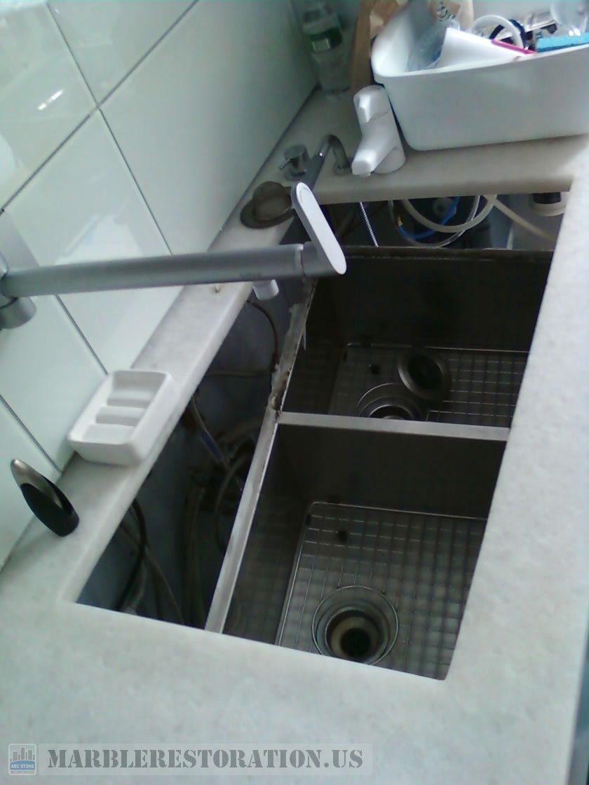 Improperly Installed and Sagging Sink