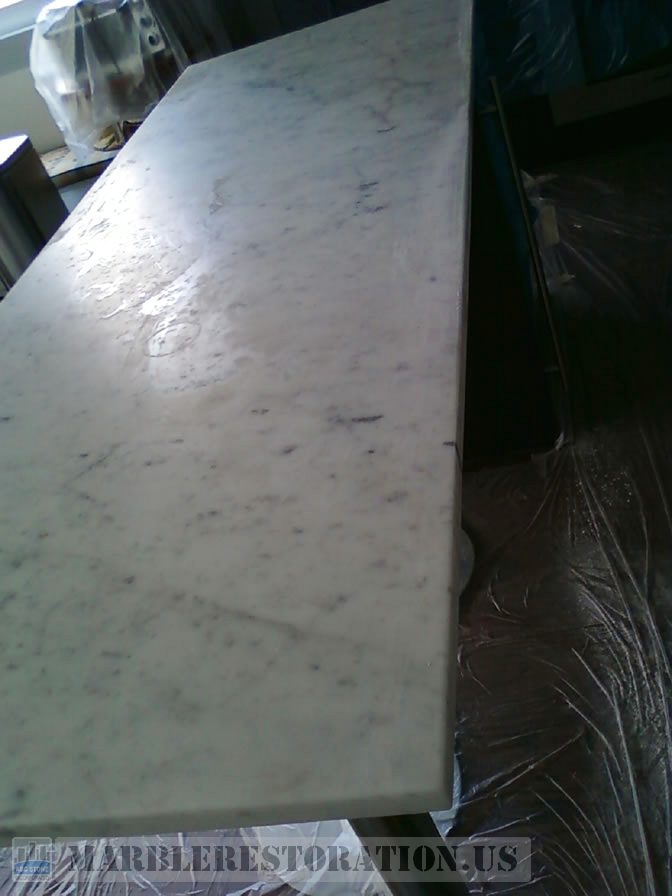 Splotchy Etched Countertop Repair