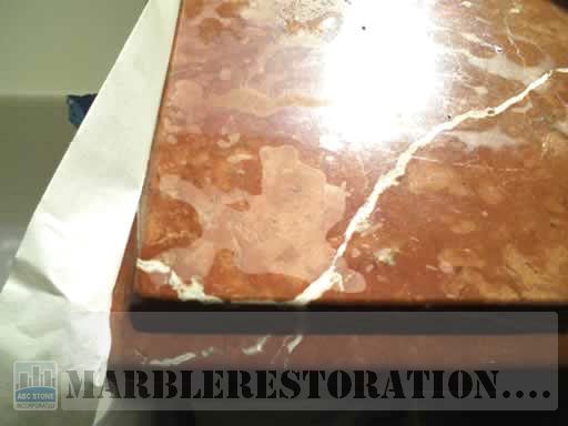 Etched Countertop. Red Alicante