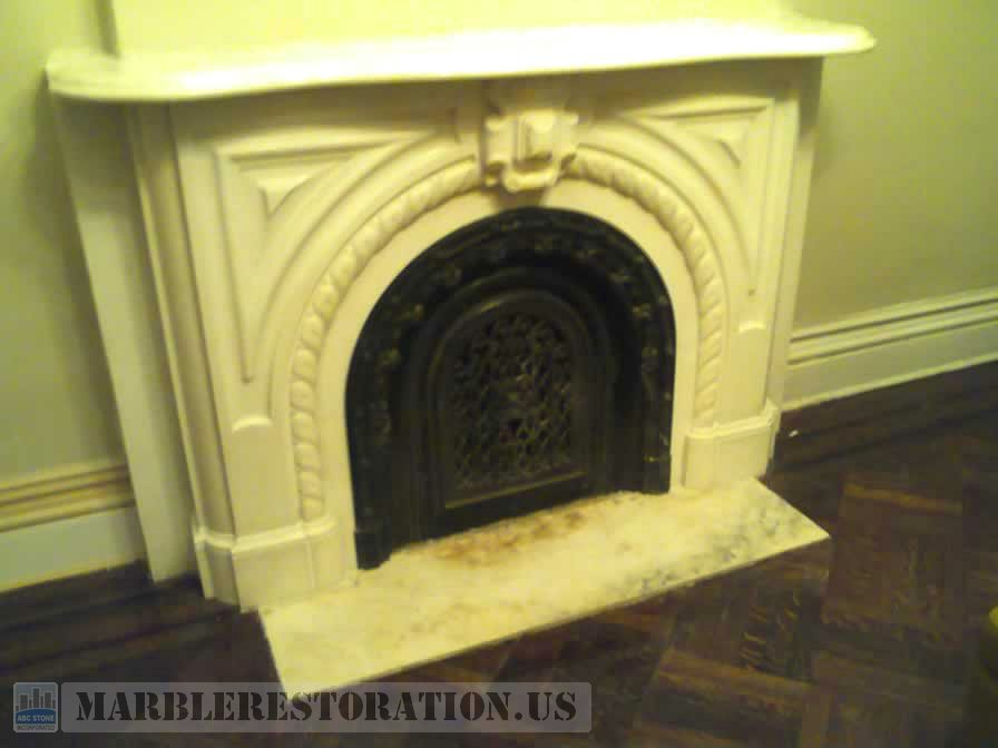 Ornamental White Fireplace