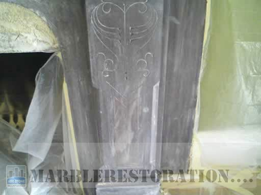 Slate Fireplace Discolorations