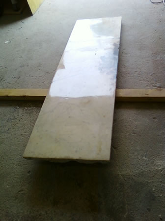 Fixed Cracks on Floor Slab. Marble Fireplace Restoration