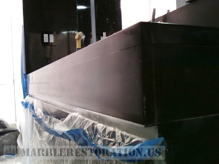 Flatted Black Granite Seam