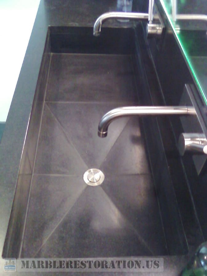 Black Absolute Granite Sink