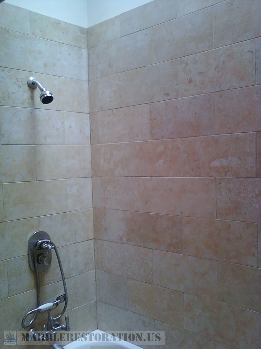 Jerusalem Stone in Shower