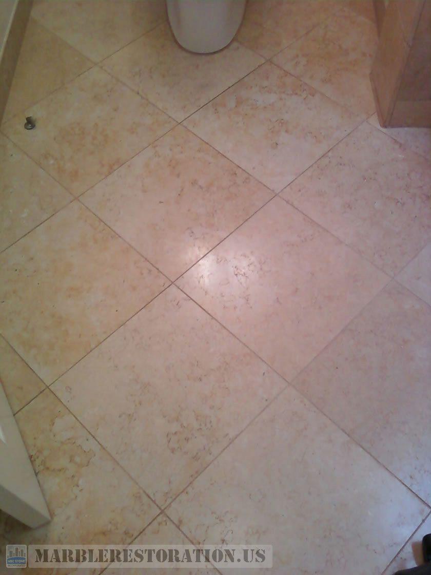 Jerusalem Stone Bathroom Floor