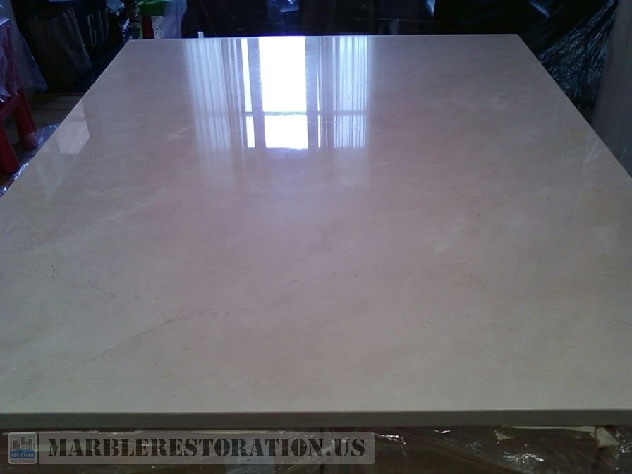 Kitchen Island After Restoration. Stone Repair Picture