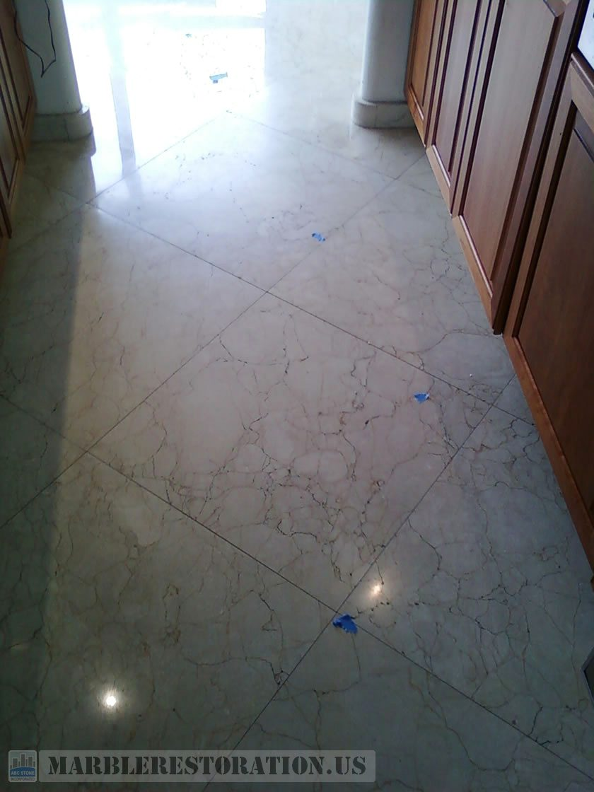 Deterioration on Kitchen Worn Floor