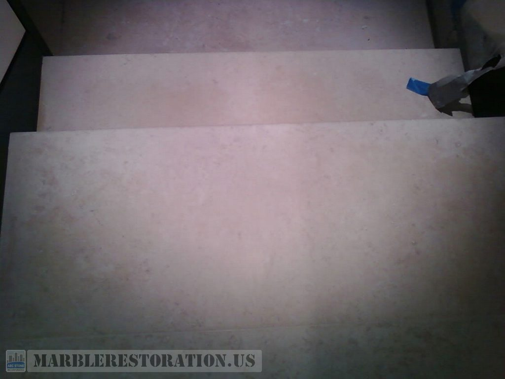 Cleaned Limestone Steps