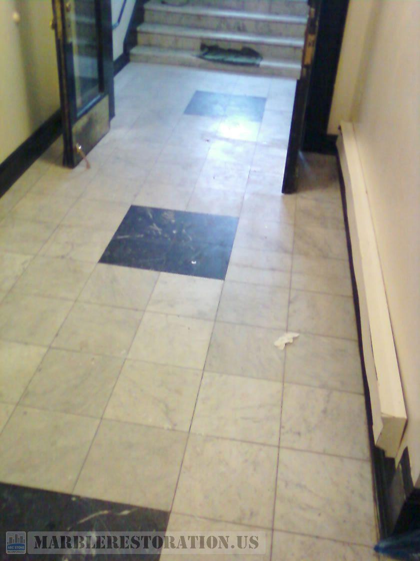 Shabby Marble Lobby Floor Restoration